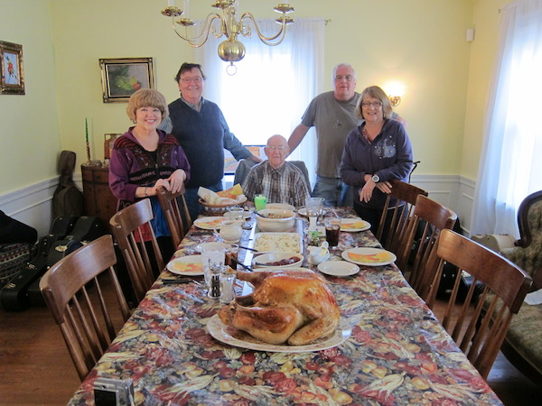 Marty. Don. Father Everett--Age 97. Sister Jan, Brother Bill--From Phoenix. Early Pre-Thanksgiving Feast!