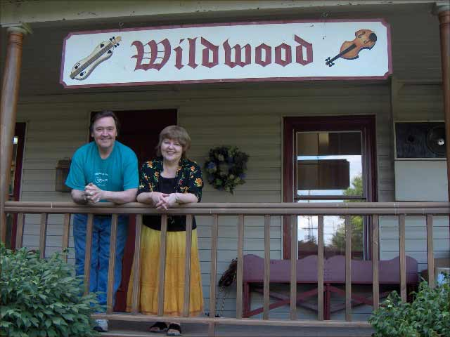 Don & Marty on the porch of the Wildwood Music Store