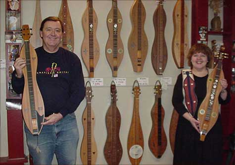 Don & Marty with Mountain Dulcimers