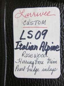 Larrivee Custom, LS-09, Italian Alpine Spruce/East Indian Rosewood!MG_7624.jpg