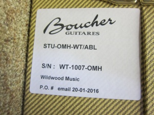 Boucher Studio OM Hybrid, Beautiful Walnut/Master Grade Adirondack Top!