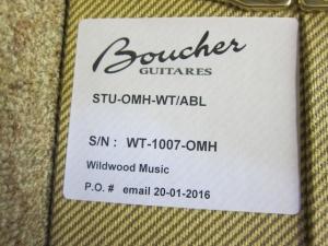 Boucher Studio OM Hybrid, Beautiful Walnut/Master Grade Adirondack Top!