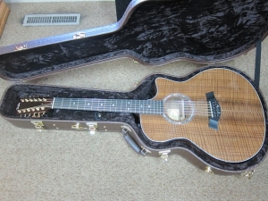 TAYLOR CUSTOM GSCE 12-STRING, Highly-Flamed Premium Claro Walnut Top, Back, and Sides