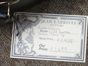 Larrivee Custom L05 Italian Alpine Spruce/Quilted Mahogany, #2