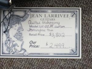 Larrivee Custom LV-05E, All Beautifully-Quilted Mahogany, Nature's Masterpiece!