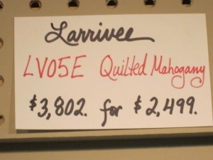 Larrivee Custom LV-05E, ALL QUILTED MAHOGANY! #3