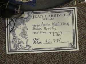 LARRIVEE CUSTOM LV-10E, 12-STRING, Italian Alpine Spruce/Premium East Indian Rosewood!