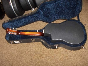 ResoRocket Resonator Guitar is a cutaway with Tricone-style grill work and biscuit-bridge-1