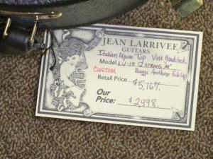 LARRIVEE CUSTOM LV-10E, 12-STRING, Italian Alpine Spruce/Premium East Indian Rosewood, Vine Headstock!