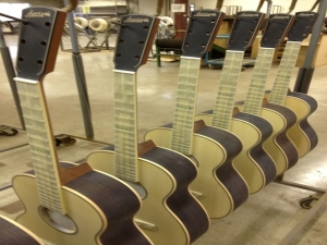 John Larrivee, Jr., and his other Larrivee luthiers in Vancouver!