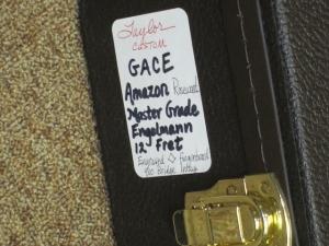 Taylor Custom 12-Fret GACE Very Rare Amazon Rosewood, Premium Engelmann Spruce