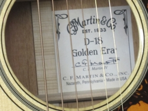 Martin D-18 Golden Era, 1934 re-issue