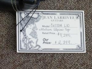 Larrivee Custom L-10, Pristine Italian Alpine Spruce/Fine East Indian Rosewood!