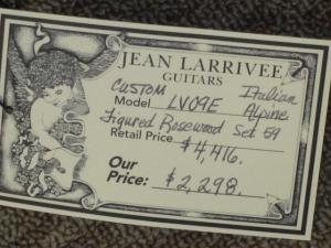 Larrivee Custom LV-09E, Figured EI Rosewood/Italian Alpine Spruce
