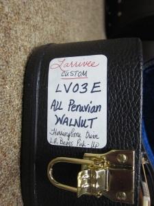 Larrivee Custom LV03E- ALL Peruvian Walnut