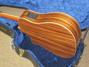 Larrivee Custom DV 03 E- Cedar top/ Zebrawood back and sides!