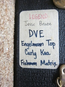 Legend DVE Premium Englemann Spruce Top /High Quality Koa Reserve back and sides