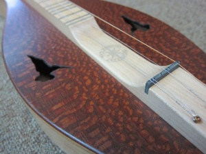 Custom FolkRoots Model, Hourglass Shape, Lacewood Top/Northern Cherry Back and Sides!